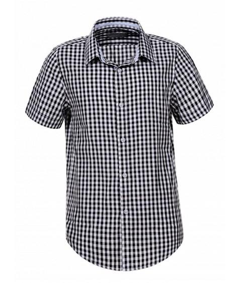 BCS-7919 Рубашка мальчик кор.рукав 110-160 48/12