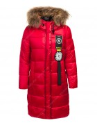 HL856 красн. Куртка девочка 134-158 по 5 шт.