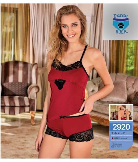 Комплект белья бордовый размер S/M по 3 штуки арт. 2920