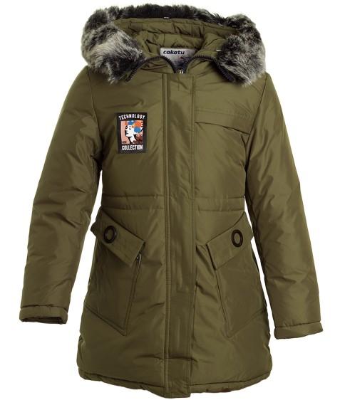 1937 хаки Куртка девочка 128-152 по 5