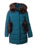 HM-1088 бирюз-синий Пальто девочка 140-164 по 5