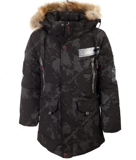 A-925#1 черный Куртка маль. 140-164 по 5