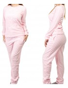 1115-5 св. розов. Пижама женская+ носки,маска для сна S-XL по 4