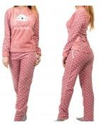 1117-1 роз. Пижама женская+ носки,маска для сна S-XL по 4