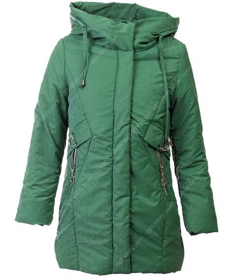 YS-1987 зел. Куртка девочка дем.128-152 по 5