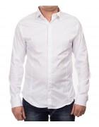 1212 white Рубашка мужская дл.рукав S-2XL  по 5