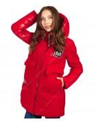 47377 красный Куртка женская S-3XL по 6