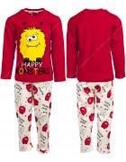 0310 монстры красн. Пижама для мальчика 3-6 лет по 4 шт