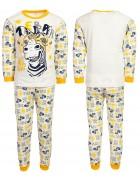 4870 зебра желт. Пижама для мальчика 4-6 лет по 3 шт