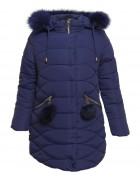 L-88702# тем.синий Куртка девочка 140-164 по 5