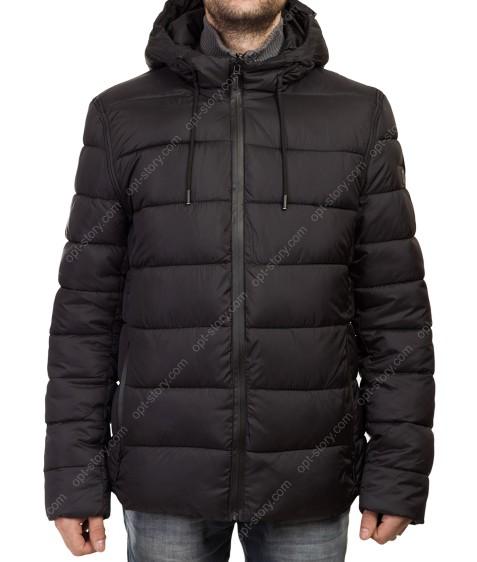 3539 черн. Куртка муж.тепл M-3XL по 5