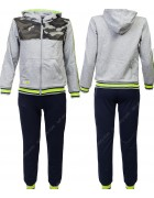 2614 серый Спортивный костюм мальчик 4-12 по 5
