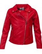 FA606 красная Куртка девочка кожзам 4-14 по 6
