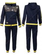 2614 синий Спортивный костюм мальчик 4-12 по 5