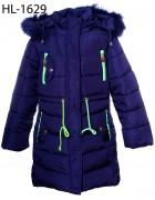 HL 1629 синий Куртка девочка 140-164 по 5 шт