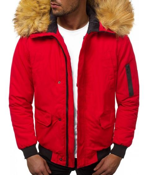 201901-3 красн. Куртка мужская S-2XL по 5