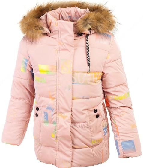 YX-2162 пудра Куртка девочка 134-158 по 5