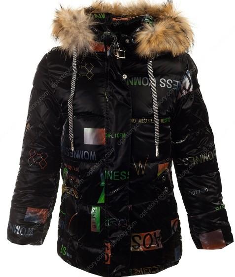 YX-2162 черный Куртка девочка 134-158 по 5