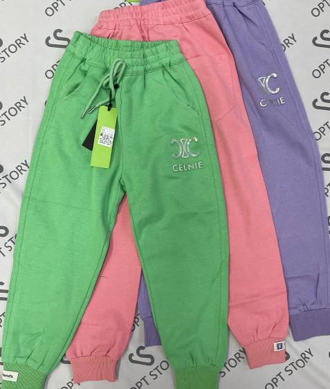 2152 зеленый Спорт штаны дев 120-160 по 5