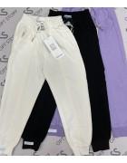 2153 белый Спорт штаны дев 120-160 по 5
