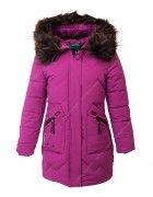 32306 фиолет Пальто девочка 128-152 по 5