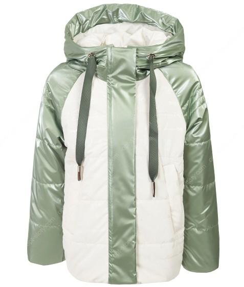2122 зеленая Куртка девочка  98-122 по 5