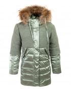 YS-1011-1 зел. Куртка девочка  122-146 по 5 шт.