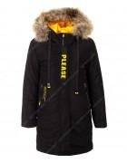 HM-1115-1 чёрный Куртка девочка 122-146 по 5