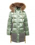 YS-1103 зел. Куртка девочка  116-140 по 5 шт