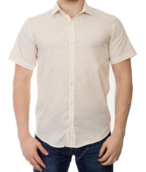 KD1311 молочн Рубашка мужская S-XL по 4