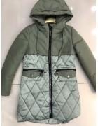 YS-1952 зел. Куртка девочка 122-146 по 5