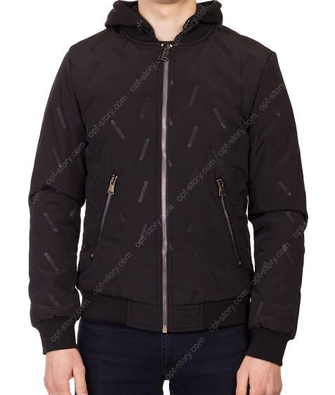 5621 чёрн Куртка мужская M-2XL по 4