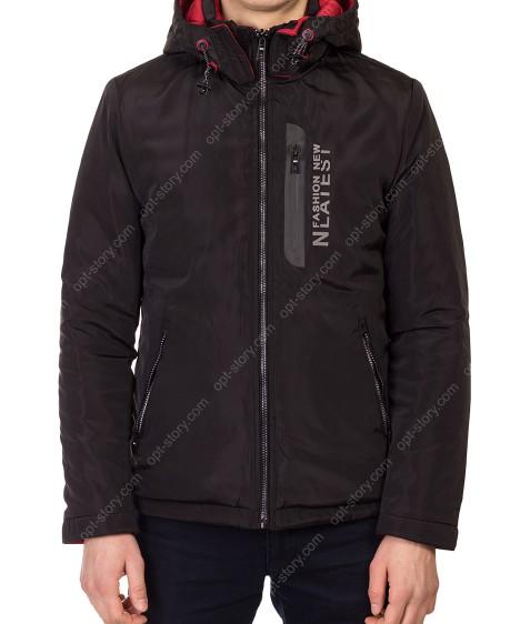 5691 чёрн Куртка мужская M-2XL по 4