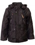 JKI-036# чёрн Куртка мальчик 128-152 по 5