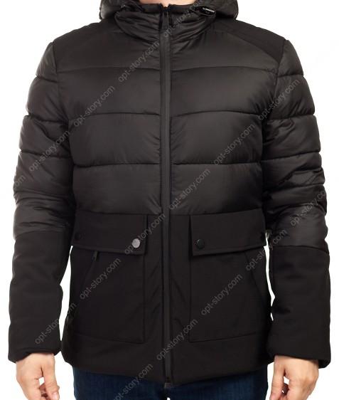 B1280 черный Куртка мужская M-3Xl по 5