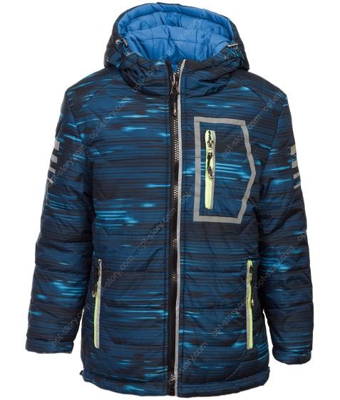 946A син Куртка мальчик (двустор) 140-170 по 5
