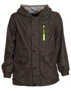 K817 черн.Куртка весна мальчик 8-16  по 5