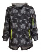 K834 черн.Куртка весна мальчик 8-16  по 5