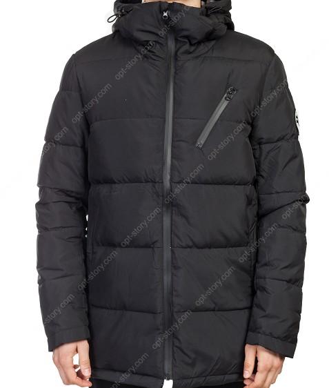 16215011 черн. Куртка мужская пух M-3XL по 4