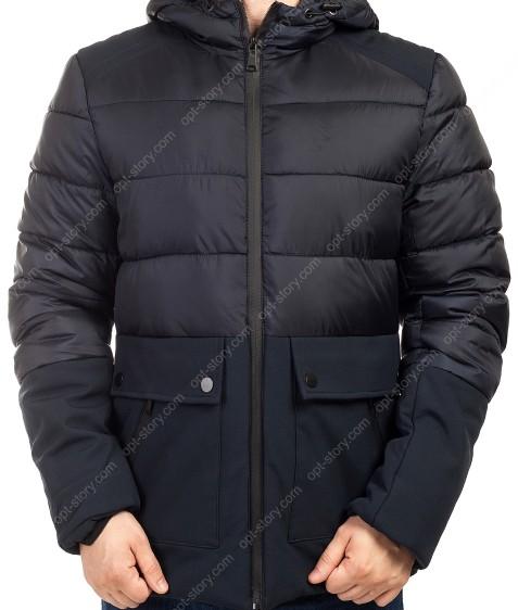 B1280 т.синий Куртка мужская M-3Xl по 5