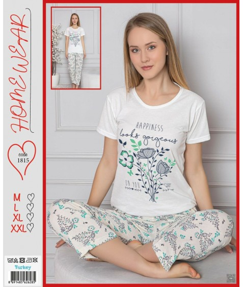 Home Wear Жен  компл (футб.+штаны) 1815 р. белый M-L-XL-2XL (4шт.), ш.к. 41614 (шт.)