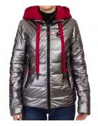 9062 серый Куртка женская  M-2XL по 4