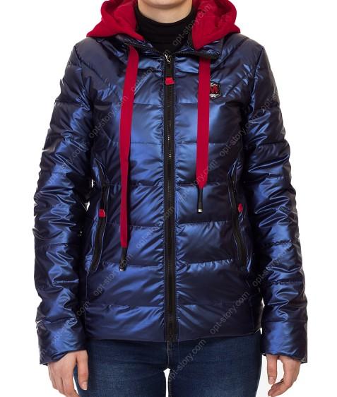 9062 синий Куртка женская  M-2XL по 4