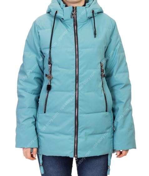 D-8907 бирюза Куртка женская 50-58 по 5