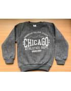 Свитшот серый Chicago с начесом размер 5-8 лет по 4 шт. арт. 1008