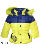 9101 желтый Куртка девочка 74-98 по 5шт