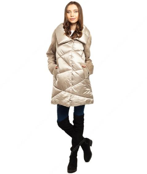 6032 беж. Куртка женская(еврозима) 36-42 по 4