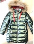YS-1982 зел. Куртка девочка 128-152 по 5