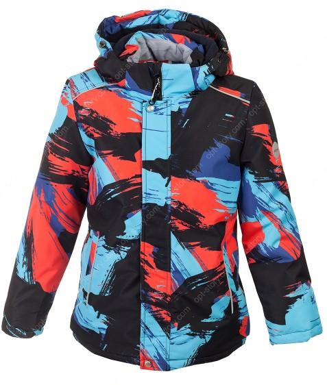 H39-03 красн Куртка  термо мальчик 128-152 по 5