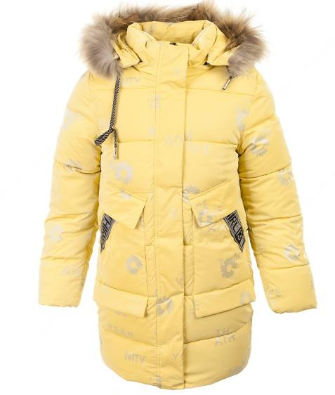 2161 желт. Куртка девочка 128-152 по 5